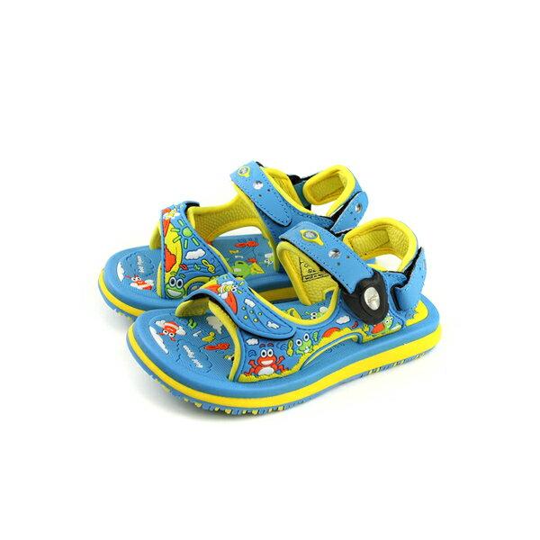 GP(Gold.Pigon)涼鞋雨天藍色中童童鞋G8681B-21no927