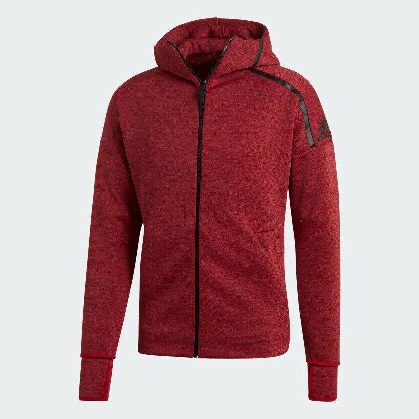 Adidas Z.N.E. FAST RELEASE 男裝 外套 連帽 慢跑 休閒 排汗 紅【運動世界】EB5231