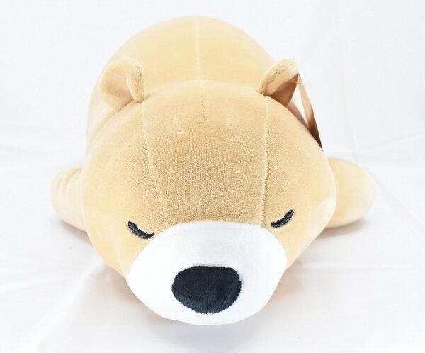 X射線【C049227】16吋超柔趴姿熊,絨毛填充玩偶玩具公仔抱枕靠枕娃娃