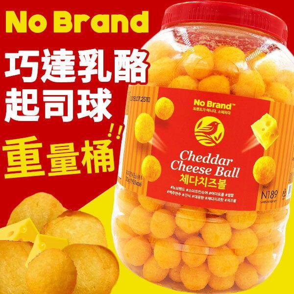 庫奇小舖:韓國NoBrand巧達乳酪起司球桶裝370g起司球乳酪起司球香濃起司球桶餅乾