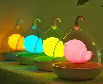 WallFree窩自在 創意LED鳥籠阿飄夜燈[桌燈版本/無法蓄電]