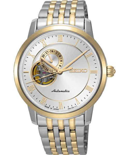 Seiko Presage 4R39-00M0KS(SSA272J1)雙色經典羅馬透視機械腕錶/白面39mm