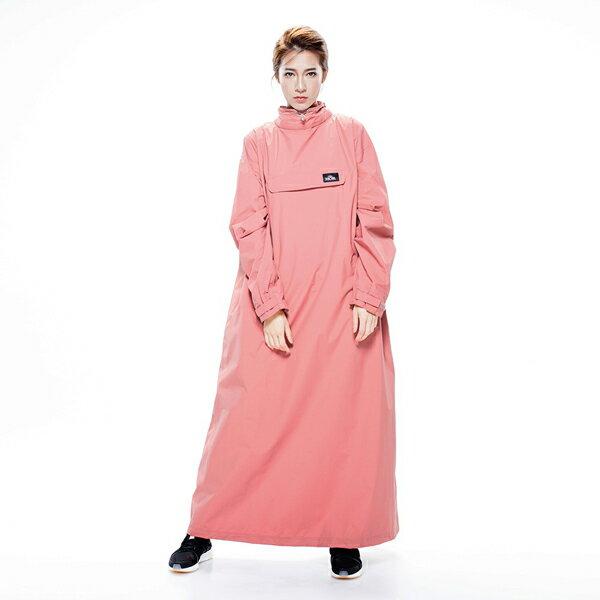 MORR時尚機能風雨衣-PostPosi反穿雨衣-殷磚紅NG1104