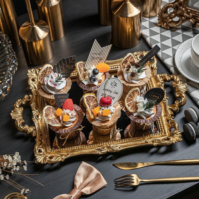 仿真紙杯蛋糕模型奶油假水果杯子蛋糕甜品臺櫥窗裝飾布置拍攝道具