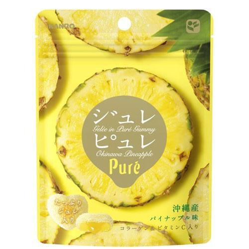 [即期良品]KANRO甘樂PURE鳳梨果凍軟糖(63g) *賞味期限:2017/02/28*