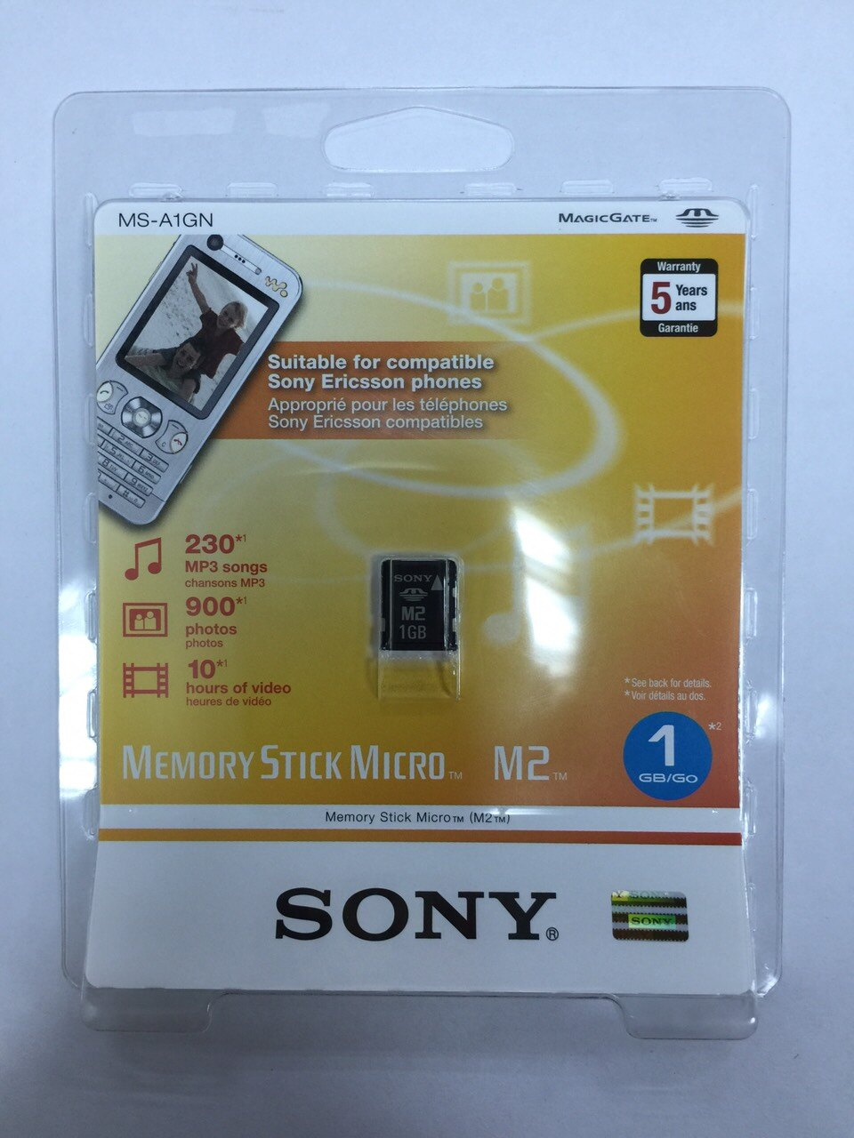 Sony M2 1G記憶卡Memory Stick Micro 1GB 記憶卡