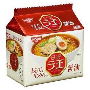 有樂町進口食品 日本 日清*麵王醬油5食包麵(5包入) 濃郁厚實的湯頭 麵條細緻順口4902105107003 0