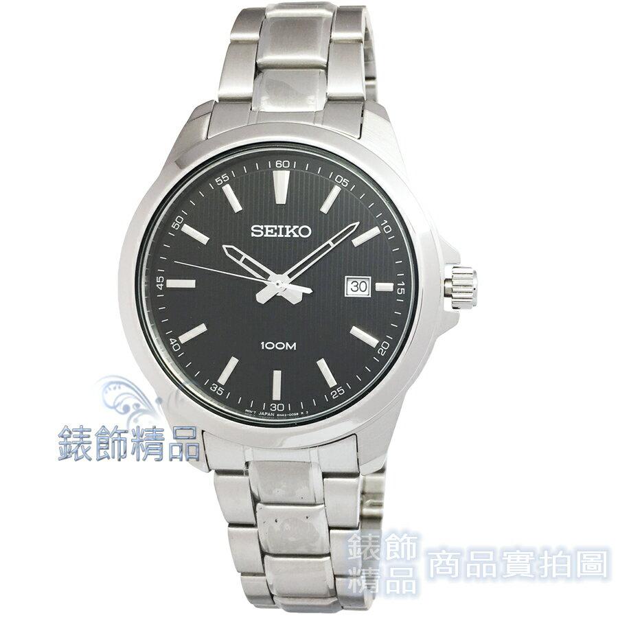 【錶飾精品】SEIKO手錶 SUR155P1 精工表 黑 日期男錶 全新原廠正品 情人生日禮物