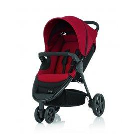 【淘氣寶寶●福利品】英國BritaxB-Agile3輪單人手推車+扶手把紅色【原廠公司貨保固一年】