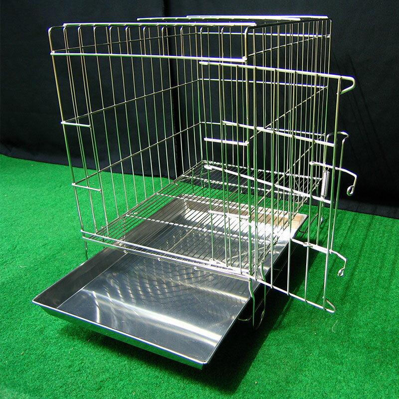 兔窩 寵物 狗籠 圍欄 隔板 尿盤 底網 吊籠 全新 1.5尺固定式兔籠 不鏽鋼固定式1.5尺白鐵線籠 空間特工