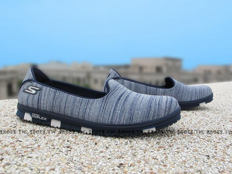 Shoestw【14009NVY】SKECHERS健走鞋 輕便鞋 GoFlex 藍水洗 瑜珈鞋墊 淺鞋背 女款