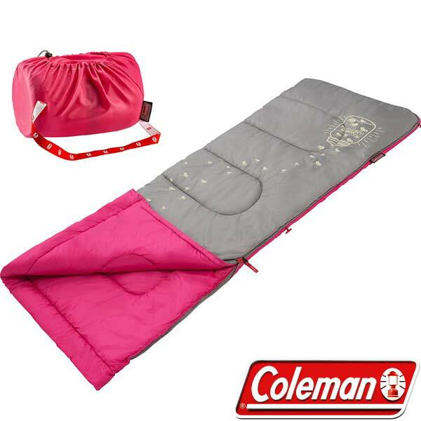 《台南悠活運動家》 COLEMAN 美國 桃紅-夜光型兒童睡袋 CM-22263