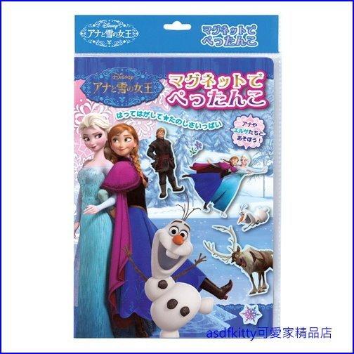 asdfkitty可愛家☆迪士尼 冰雪奇緣溜冰版 磁鐵遊戲組/磁鐵圖畫書玩具-日本正版商品