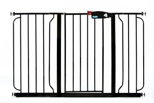 Regalo Easy Step Extra Wide Black Metal Walk-Through Gate - 1164 EB DS 1
