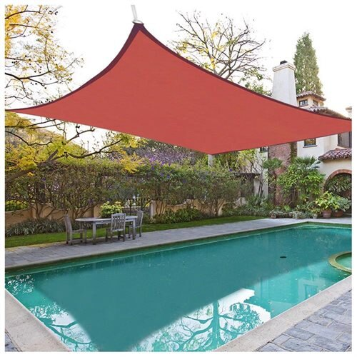 18u0027 Square Sun Shade Sail Canopy Cover Top Shelter Garden Lawn Yard Pool Outdoor Red & YescomUSA: 18u0027 Square Sun Shade Sail Canopy Cover Top Shelter Garden ...