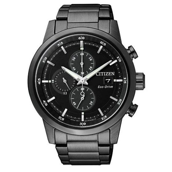 清水鐘錶 Citizen 星辰 Eco-Drive 光動能 急速豪傑時尚優質腕錶 黑面 CA0615-59E 43mm