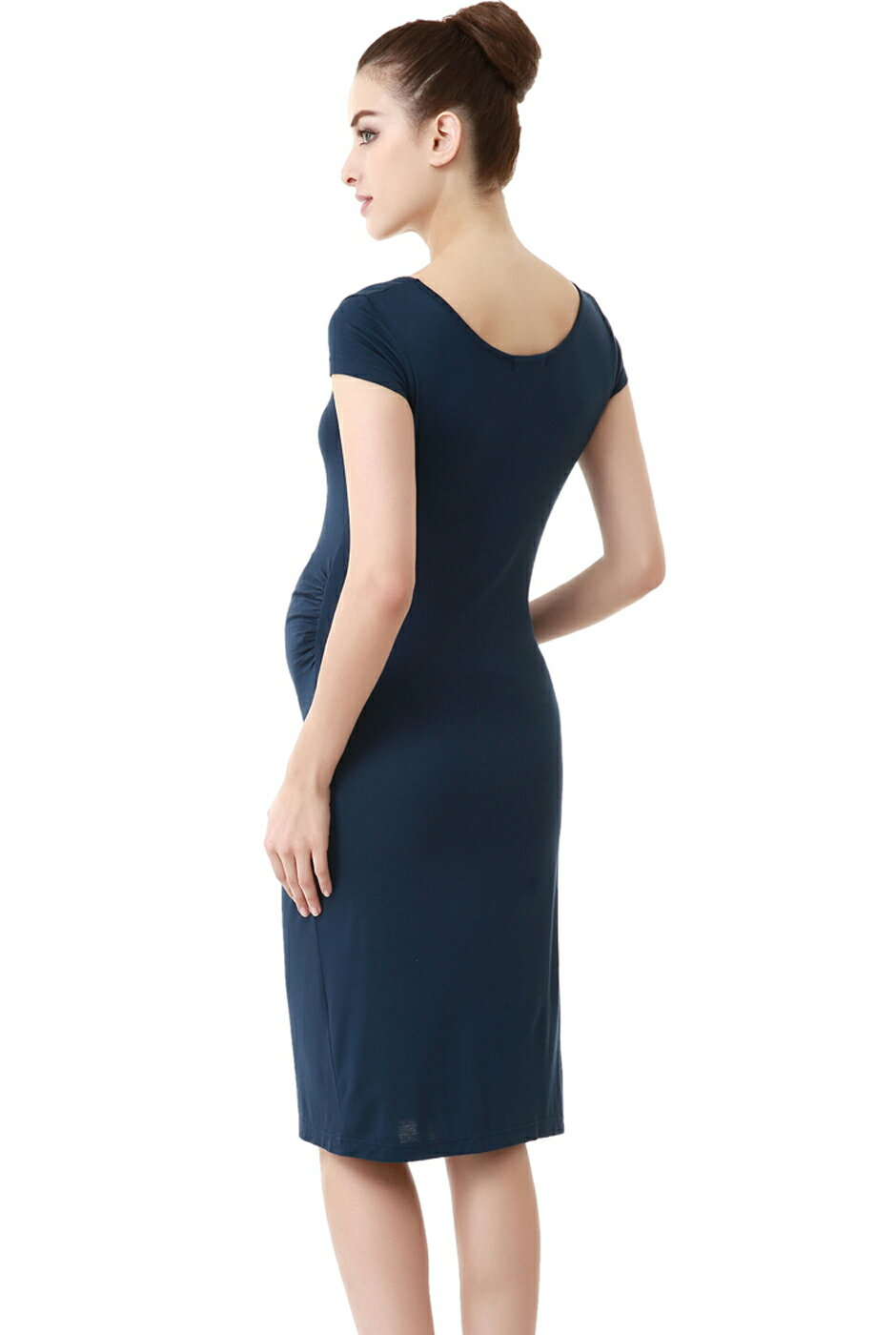 8a8dd4f771 Luxury Lane  Momo Maternity Navy Fitted Tee Dress