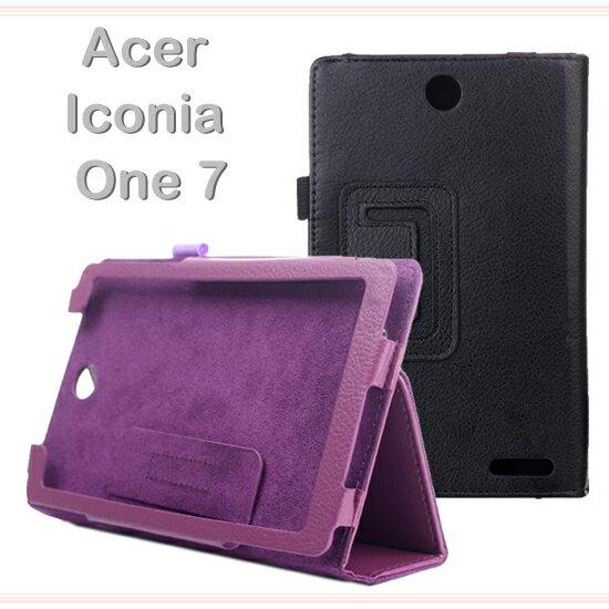 【斜立、帶筆插】宏碁 ACER Iconia One 7 B1-740 平板專用 荔枝紋7吋皮套/書本式側掀翻頁保護套/支架展示~出清特惠