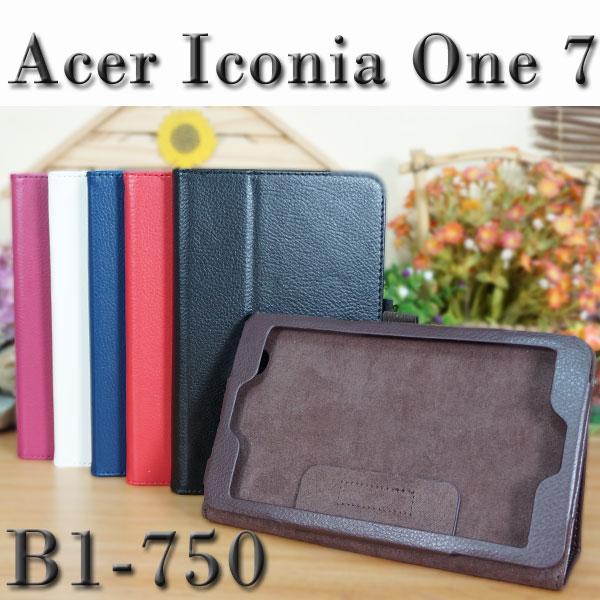 【斜立】宏碁 Acer Iconia One 7 B1-750 平板 荔枝紋皮套  側掀展示保護套  帶筆插
