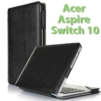 【全機+基座保護套】宏碁 Acer Aspire Switch 10 二合一平板筆電 專用皮套 帶鍵盤套書本式保護套(型號SW5-011-1233)~出清特惠