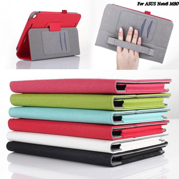 【手持、側掀】華碩 ASUS VivoTab Note 8 M80TA 專用平板 手托荔枝紋保護皮套/書本式翻頁皮套/帶筆插保護套