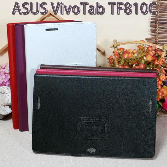 【斜立、側掀】華碩 ASUS VivoTab TF810/TF810C 荔枝紋皮套/筆記本式保護套/書本式翻頁/立架展示/帶筆插