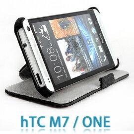 【支架、斜立】HTC NEW ONE M7/M-7 801e 水貂紋側掀式皮套/熱定型保護套/手機套/翻蓋保護殼
