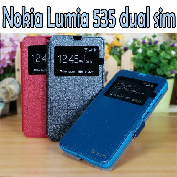 【熱銷款】微軟 Microsoft Lumia 535 dual sim/RM-1090 簡約視窗手機皮套/保護套/側掀磁扣保護套/斜立展示支架保護殼