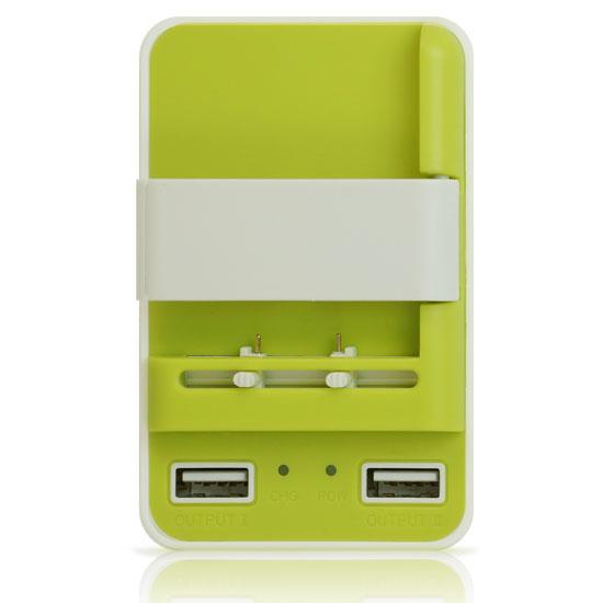 【免運、H222】智能雙USB快充 3in1 1A USB電源旅充/電池座充/通用型充電器/電池充電充座/手機萬用旅行充