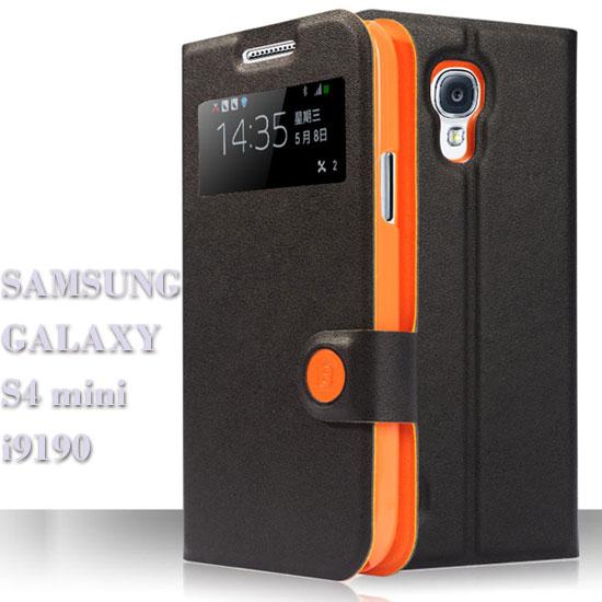~BASEUS 智彩~三星 SAMSUNG S4 mini i9190 倍思 透視感應皮套