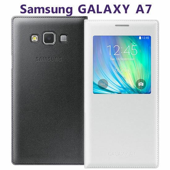 【透視感應】三星 Samsung Galaxy A7 SM-A700YD/A700 原廠皮套/智能手機保護套/側掀保護殼