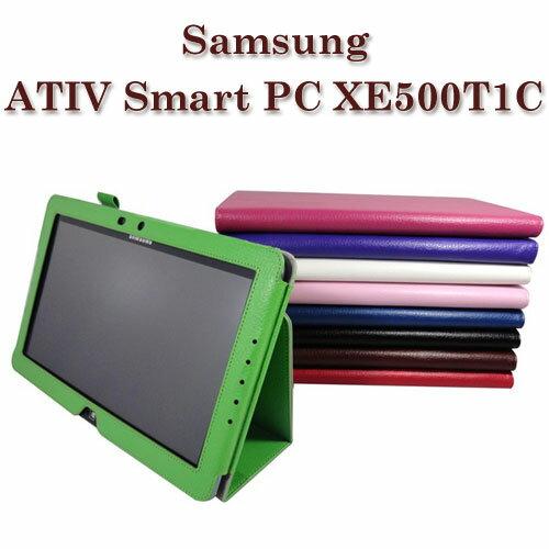 【手托支架】三星 Samsung ATIV Smart PC XE500T1C 荔枝紋筆記本保護皮套/書本式翻頁皮套/斜立展示/可手持~清倉