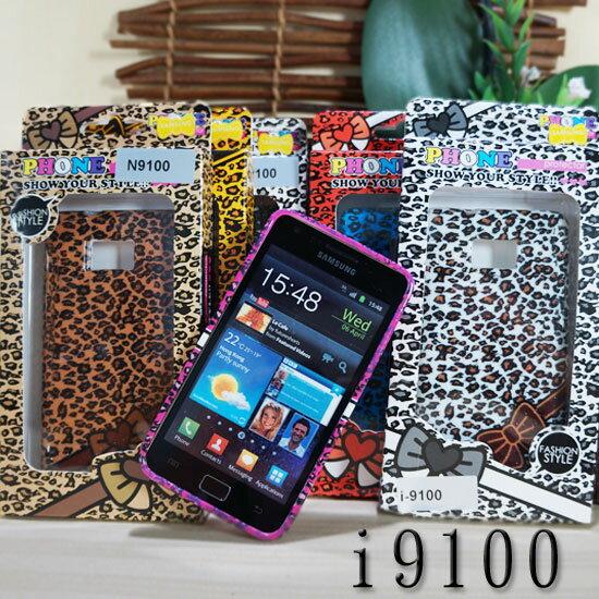 SAMSUNG GALAXY S2 i9100 豹紋蝴蝶結 手機套 保護殼 手機殼 軟殼 背蓋