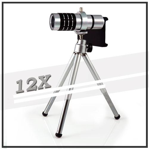 【12倍變焦‧可伸縮‧含背蓋】Apple iPhone 5/5s/SE 手機長鏡頭/光學變焦鏡頭/手機用/望遠鏡頭
