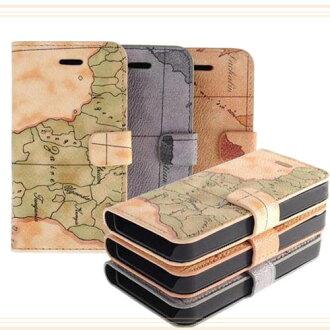 【清倉促銷】Apple iPhone 4/4S 地圖圖樣書本式保護皮套/斜立側翻保護套/側掀側開反扣/筆記本型/手拿包