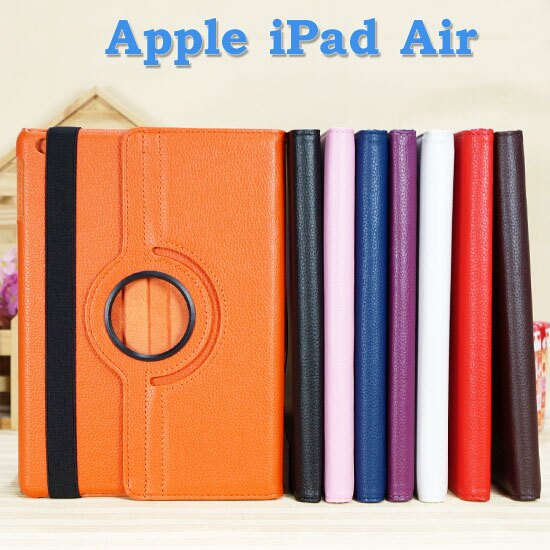 ~旋轉、斜立~Apple iPad Air iPad 5 平板 荔枝紋皮套  書本式保護套