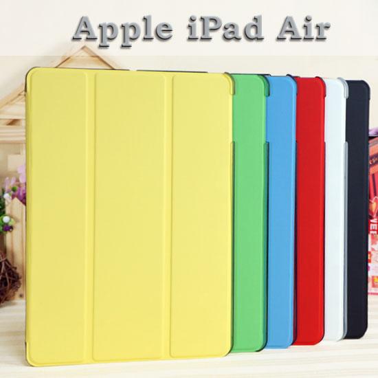 【透明殼、斜立】Apple iPad Air iPad 5平板 三折側掀皮套/書本翻頁式保護套/立架展示斜立/A1474/A1475/A1476
