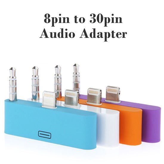 【音頻輸出】Apple iPhone 5/5S/5C / iPod touch 5/nano 7 充電/傳輸/音源 配適器 轉接音箱 Lightning 8 pin to 30 pin Audio Adapter