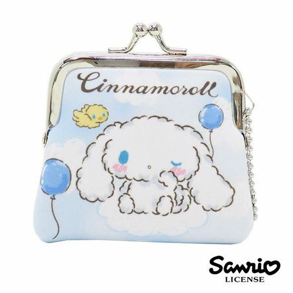 【日本進口】大耳狗 Cinnamoroll 小型 防震棉 珠扣包 零錢包 三麗鷗 Sanrio - 439538