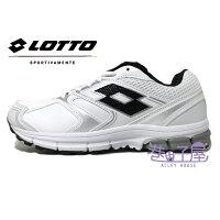 女性慢跑鞋到義大利第一品牌-LOTTO樂得 情侶款ZENITH輕量避震慢跑鞋 [3688] 白黑【巷子屋】就在巷子屋推薦女性慢跑鞋