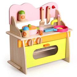木製仿真廚具台