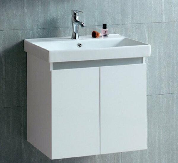 【ROMAX衛浴】一體瓷盆雙門浴櫃組60cm