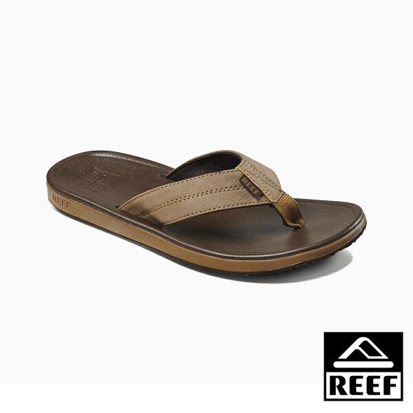 【新品上市↘】REEF新軟Q彈力鞋床鞋床舒適好穿防滑耐磨旅行必備男款夾腳拖人字拖鞋.灰棕RF0A39UGBRO