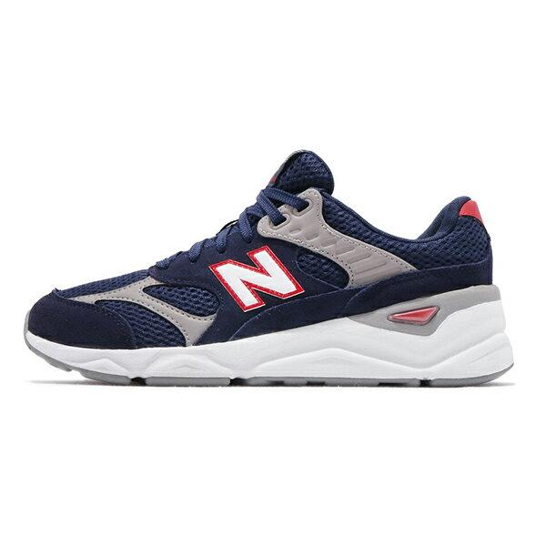 【NEW BALANCE】NB X90 鞋舌版 復古鞋 休閒鞋 藍 男鞋 -MSX90TBHD