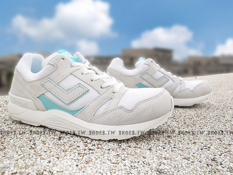 Shoestw【71W1BK62OW】PONY Bleeker 復古慢跑鞋 麂皮 淺灰白 蒂芬妮綠 女生尺寸