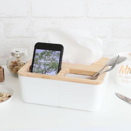 簡約木質蓋方形三格面紙盒紙巾盒面紙盒衛生紙盒紙巾居家收納收納盒【N102900】