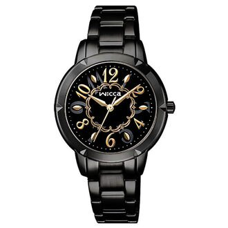 CITIZEN星辰WICCA(BT2-742-51)黑金時尚腕錶/黑面30mm