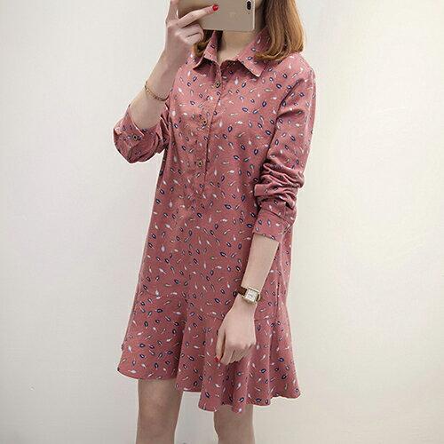加厚大碼中長款連身裙(2色XL~5XL)*ORead* 0