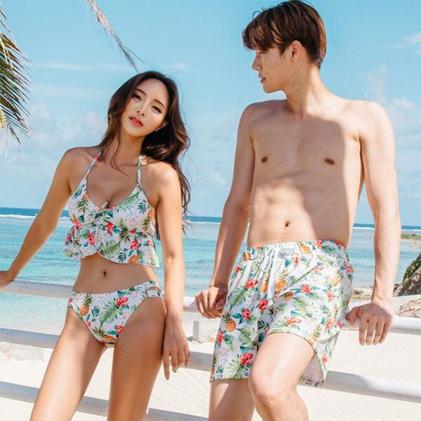 PS Mall 泳裝【ET007】情侶游泳衣男沙灘褲比基尼三角二件套性感泳裝 泳衣 溫泉 沙灘 BIKINI 2