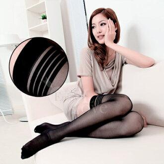 [漫朵拉情趣用品]fashion 超彈性透明性感長筒絲襪﹝黑色款﹞ NO.530644